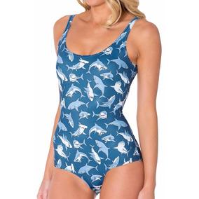 Body Maio Senhor Tubarão Azul Praia Mar Piscina Sexy