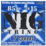 Kit C/2 Encordoamentos Para Violão 7 Cordas Nig N-485