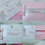 Convites Infantil 35 Uni Princesa Realeza Provençal Menina
