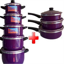Jogo De Panela Colorida 5 Peças + 3 Figideira / Frete Grátis
