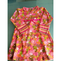 Vestido Manga Larga Algodon Lycra Estampado Talle 2