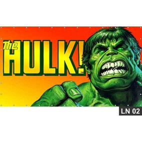 Hulk Vingadores Painel 2,00x1,30m Lona Festa Aniversários