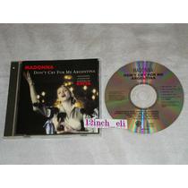 Madonna Don´t Cry For Me Argentina 1996 Warner Musi Cd Promo