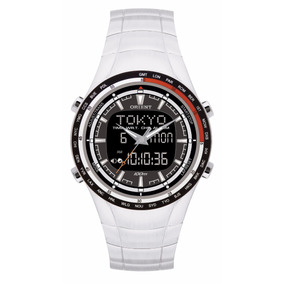 Relógio Orient Masculino Anadigi Hora Mundi Mbssa028