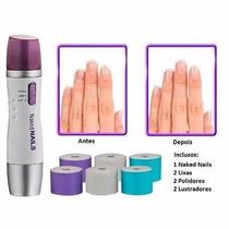 Lixa Eletronica De Unhas Kit Manicure Naked Nails Profission