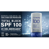 Bloqueador Solar Total Block Spf 100 Unique Mega Original!