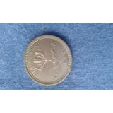 Moneda De Rhodesia De 6 Pence { Vf }de 1964