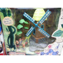 Molino Con Enanitos De Plastico En Caja Preciosos