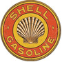 Carteles Antiguos De Chapa Gruesa 40cm Shell Gasoline Pe-095