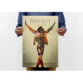 Poster Cartaz Michael Jackson Rei Do Pop Papel Kraft Retro