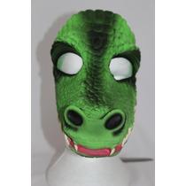 Máscara Látex Jacaré Carnaval Halloween Fantasia Animal