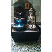 Fuente De Agua Buda Con Luces Colores Feng Shui Zen (1061)