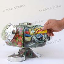Baleiro Giratorio Vidro Pote 27cm Medio Bomboniere Mae