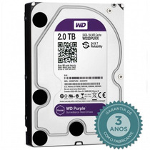 Hd Interno Wd Purple 2tb Sata 6gb/s 5400 Rpm - Dvr Wd20purx