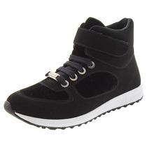 Tênis Feminino Sneaker Preto Bebecê - 1314321
