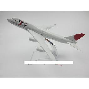 Miniatura Avião Air Japão Yokoso Airlines Boeing 747 - 16cm