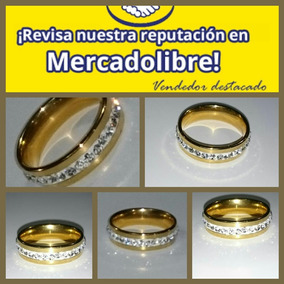 Argolla Diamantada Oro Laminado 24k