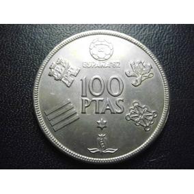 Moneda España 100 Pesetas Mundial 82 Fecha 1980 Niquel