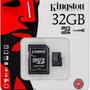 Tarjeta De Memoria Micro Sd 32gb Clase 10 Kingston