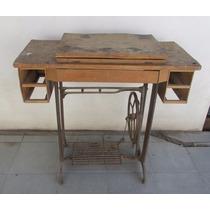 Antiguo Pie Maquina Coser Singer,hierro Y Chapa, A Restaurar