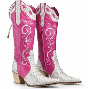 Bota Feminina Country Texana Couro Legitimo Lançamento Dhl