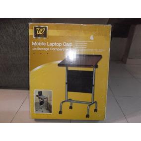 Mesa Para Laptop Con Ruedas Y Porta Documentos, Muy Bonita.
