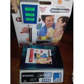 Balanza Digital Comercial Hasta 40kg-doble Visor Con Columna
