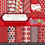 Kit Imprimible Pack Fondos Santa Y Mama Claus 1 Clipart