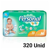 Fralda Personal Baby M 320 Unid Barato+frete Grátis