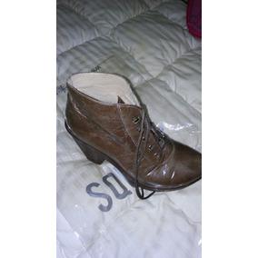 Botas Borsegos Zapatos Taco Marca Ash N° 39 Marron Oscuro
