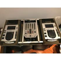 Par Pioneer Cdj100s + Behringer Vmx200 + Case