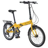 Bicicleta Dobrável Durban Bay Pro- Amarelo - 7 Marchas Bike