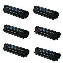 Kit 6 Toner Compatível Hp Q2612a 2612a 1010 1012 1015 1018