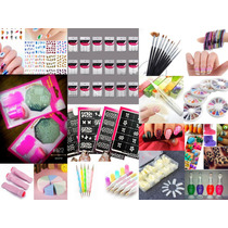 Kit Decoracion De Uñas Nail Art Stamping Dotting Pinceles