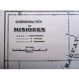Plano Original 1930 Gobernacion De Misiones Mapa
