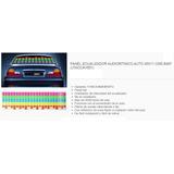 Panel Ecualizador Audioritmico Auto 45x11 Cms