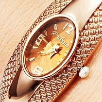 Relogio Feminino Bracelete Bronze Vidro Lapidado Bd1108