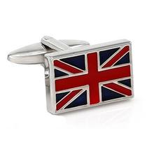 Mancuernillas Bandera Inglaterra Acero Inoxidable Camisa