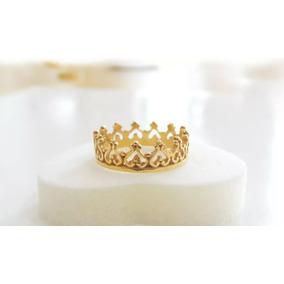 Anel De Coroa Em Ouro - Aro 20