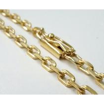 Corrente Cordão Banhado A Ouro Masculino 4mm C/ Fecho Gaveta