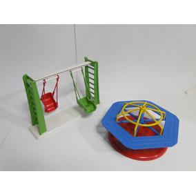 Parque Balanço E Carrossel Para Boneco Lego Playmobil