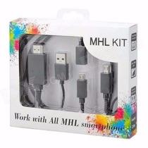 Cabo Mhl Hdmi Micro Usb Tv Em Smart Tv Celulares Compatíveis