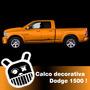 Calco Decorativa Lateral Para Dodge 1500! Excelente Calidad!