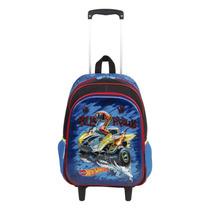 Mochila Escolar Infantil Rodinhas Hot Wheels 17x 64757 G