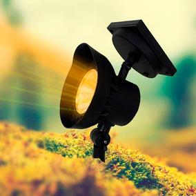 Refletor Solar Spot Espeto Jardim Super Led Âmbar Luz Quente