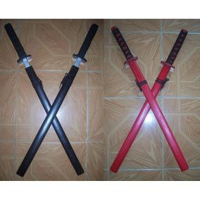 Set 2 Katana Espada Samurai Madera Cosplay Ninja 73 Cm