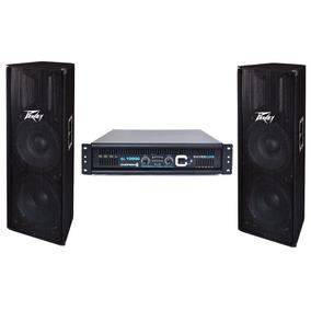 Kit Par Bafles Concert Peavey Pv215 Bocinas 15 Amplificador