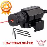 Mira Laser C/ Acionador Remoto + Trilho 20mm/21mm + Baterias
