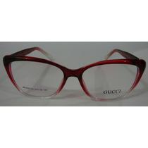 Armação Oculos Grau Gucci 9732 Feminino Estilo Promoção