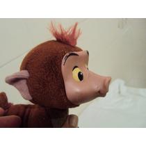 Boneco Antigo De Pelúcia Macaco Balbuíno Marron